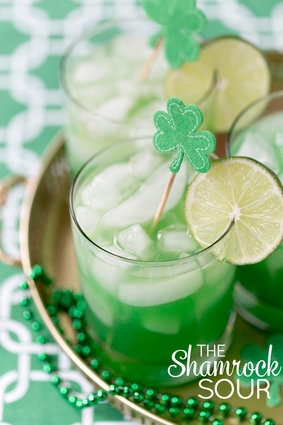 green whiskey sour